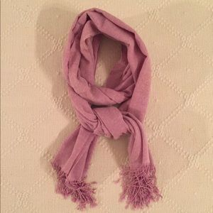 Accessories - Pink/lavender shawl from India 38x18